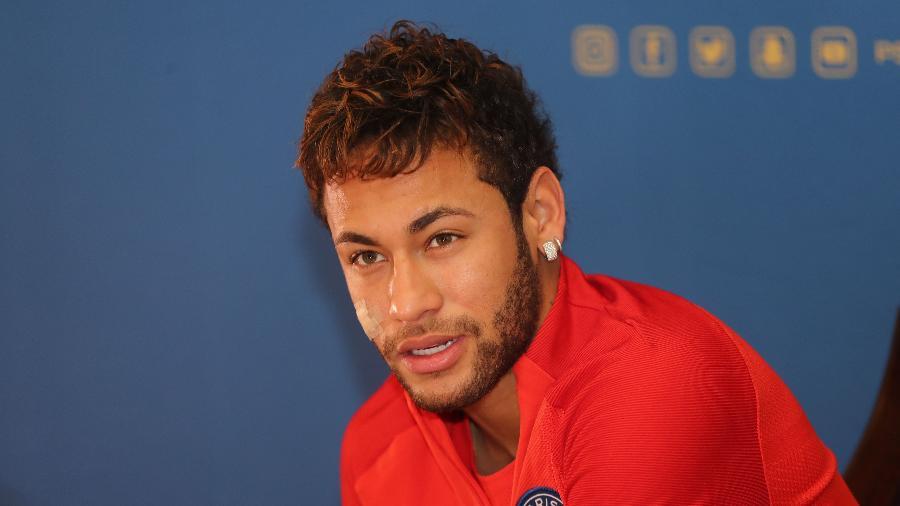 Neymar durante evento em Doha, no Catar - Karim Jaafar/AFP