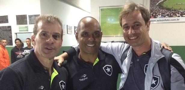 Felipe Tigrão ao lado de Donizete Pantera e Túlio Maravilha: estrelas do Botafogo