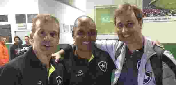 Felipe Tigrão ao lado de Donizete Pantera e Túlio Maravilha: estrelas do Botafogo - Divulgação/Botafogo