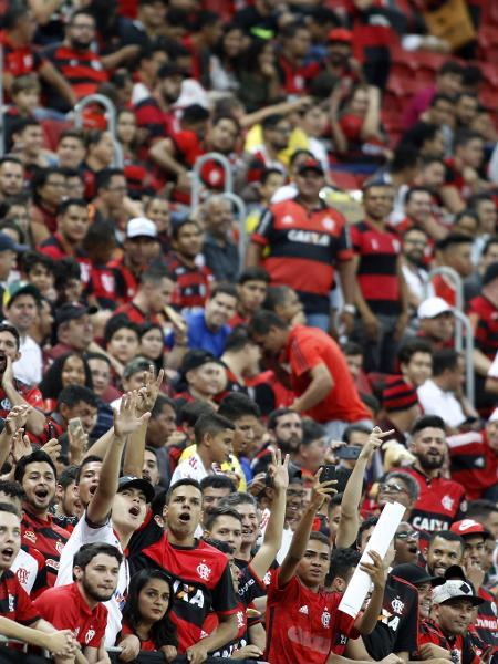 Torcida do Flamengo comparece em bom número ao Estádio Nacional Mané Garrincha para jogo contra o Fluminense pelo Campeonato Brasileiro 2018 - Staff Images/Flamengo
