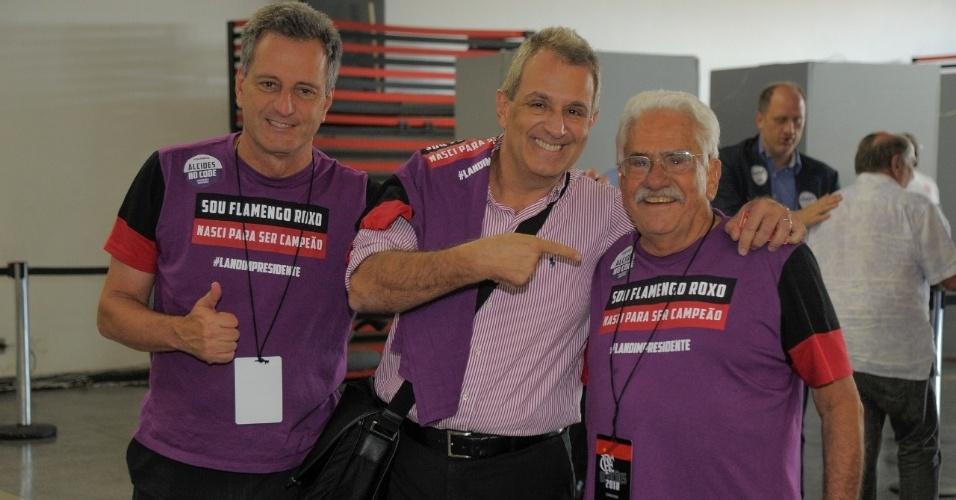 Rodolfo Landim, Bap e Antonio Alcides na eleição do Conselho Deliberativo do Flamengo
