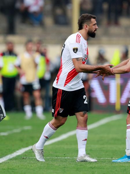 Lucas Pratto, do River Plate, substitui Rafael Borre na final da Libertadores 2019 contra o Flamengo, em Lima, no Peru - Henry Romero/Reuters