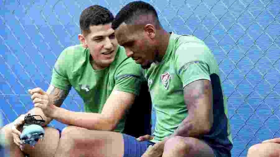 Nino e Digão voltarão a formar a dupla de zaga titular do Fluminense - Mailson Santana/Fluminense FC