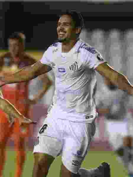 Lucas Veríssimo comemora gol na vitória do Santos contra o Delfín na Libertadores - Ivan Storti/Santos FC