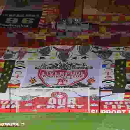 Anfield, estádio do Liverpool, antes do jogo contra o Crystal Palace, 4ª feira - Shaun Botterill/Getty Images