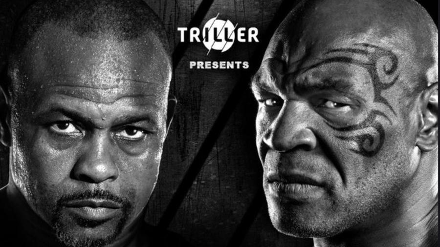 Pôster do duelo entre Mike Tyson e Roy Jones Jr. - Reprodução/Twitter