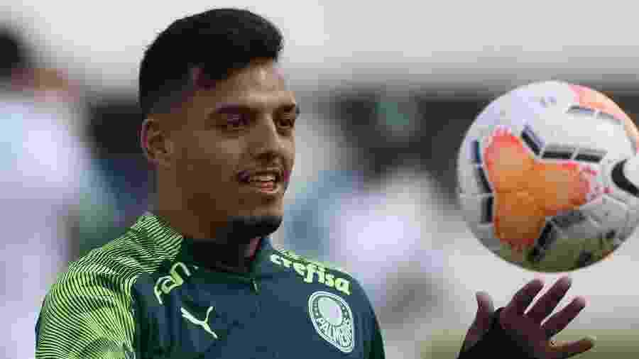 Gabriel Menino, durante treino do Palmeiras, na Academia de Futebol - Cesar Greco