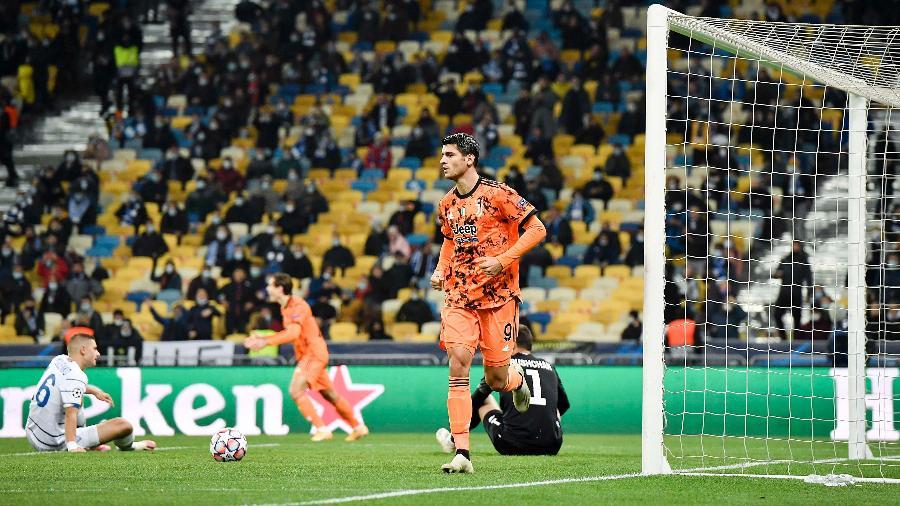 Morata fez os dois gols da vitória da Juventus contra o Dínamo de Kiev, na estreia da Liga dos Campeões - Juventus FC via Getty Images