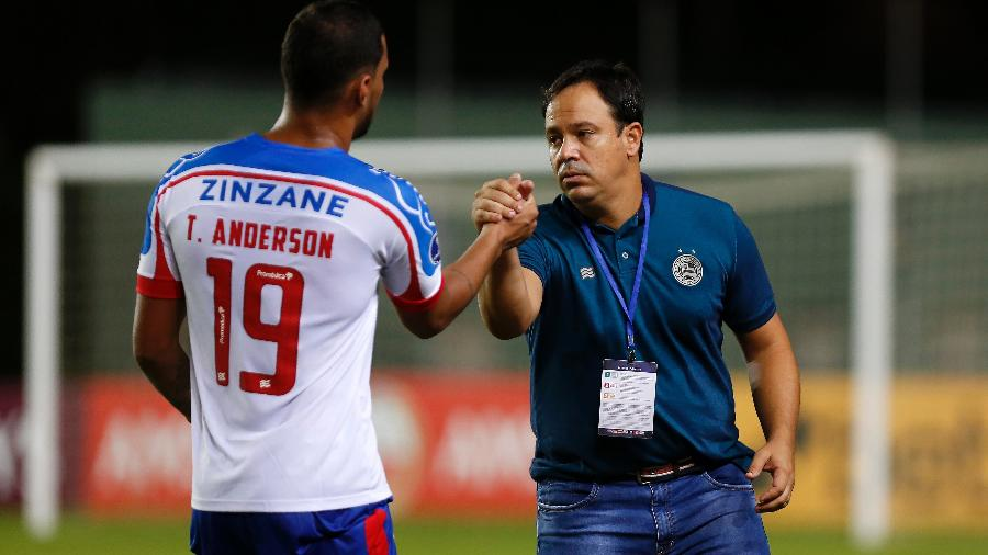 Dado Cavalcanti, técnico do Bahia, e Thonny Anderson, um dos destaques do time na Sul-Americana - Felipe Oliveira/Bahia