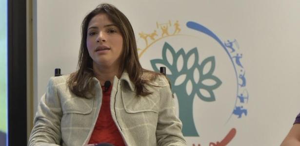 Ex-ginasta Lais Souza participou na última terça (11) de debate em São Paulo