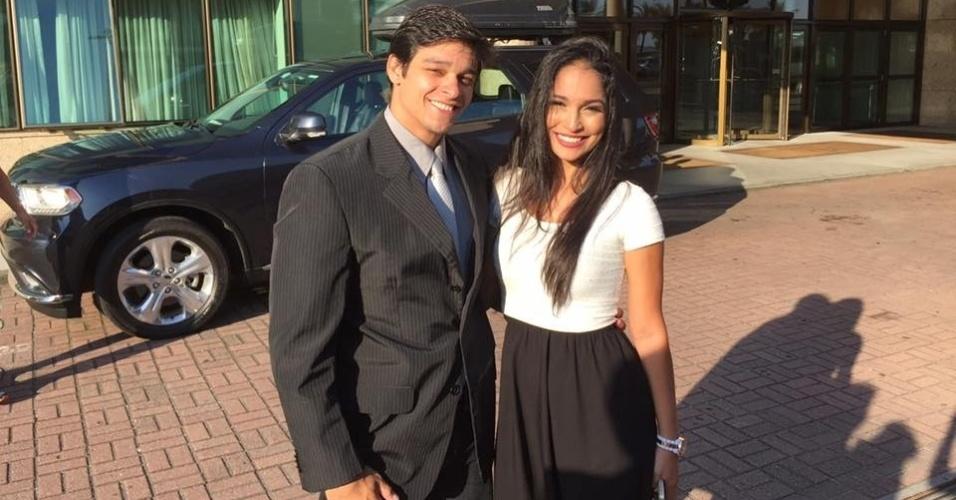 O ginasta Francisco Barreto Jr. e sua mulher, bailarina do Faustão