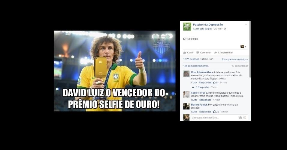 David Luiz também levou o seu prêmio na Bola de Ouro
