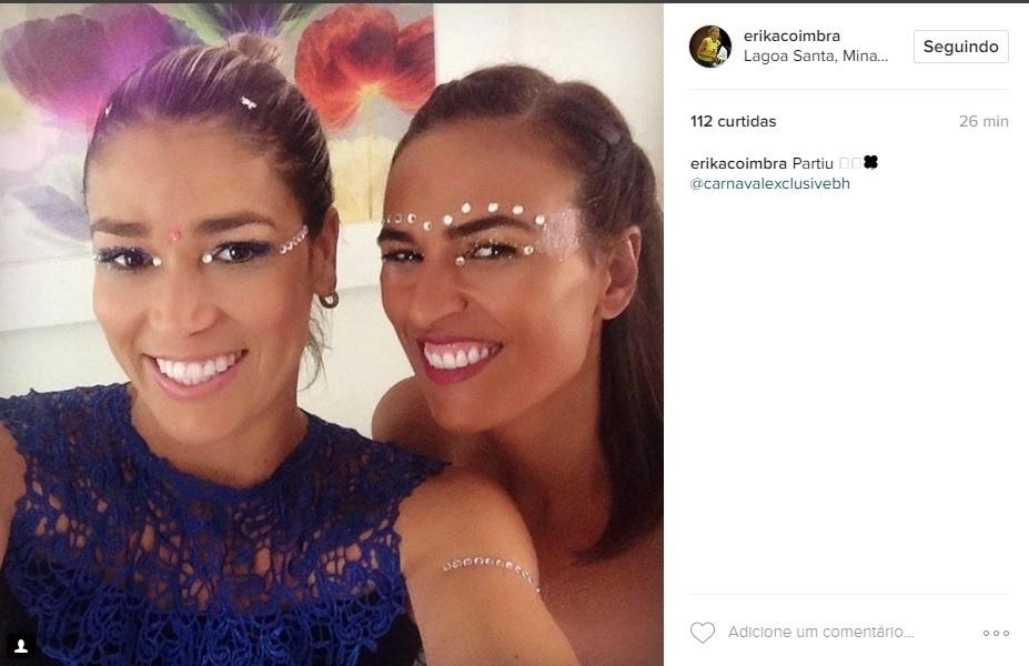 A medalhista olímpica do vôlei Erika curte o carnaval em Belo Horizonte