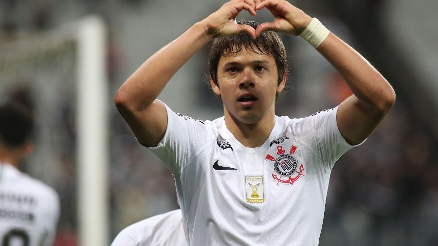 Romero comemora gol enquanto jogava pelo Corinthians - Luis Moura/WPP/Estadão Conteúdo