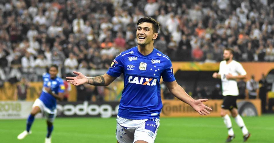 Arrascaeta comemora gol do Cruzeiro na final da Copa do Brasil contra o  Corinthians 6107397326e25