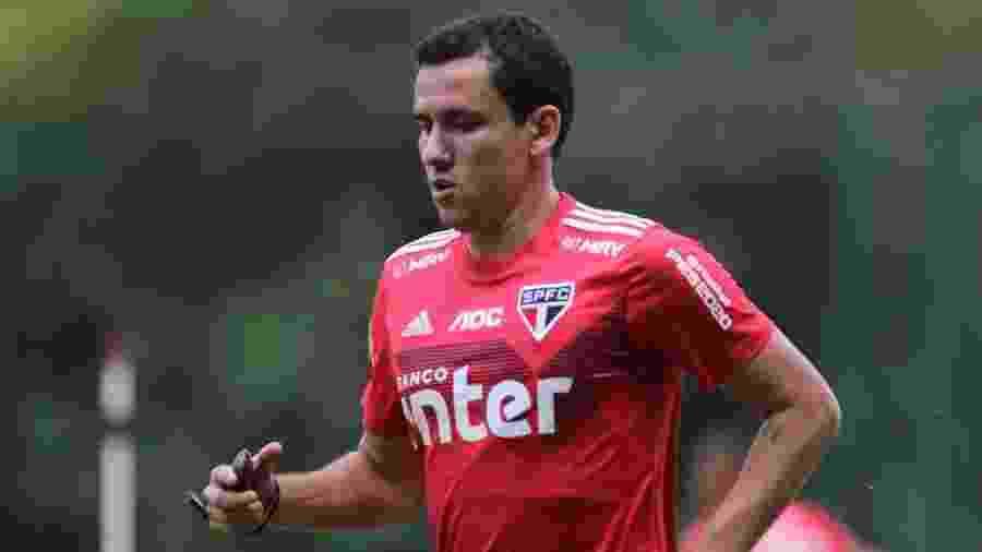 Pablo, atacante do São Paulo, vai para a segunda temporada no clube. Em 2019, fez sete gols apenas - Rubens Chiri/saopaulofc.net