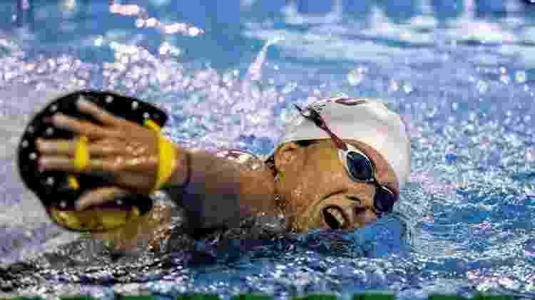 Susana, atleta da natação paralímpica, treina sozinha em piscina  - Divulgação/Comitê Paralímpico Brasileiro