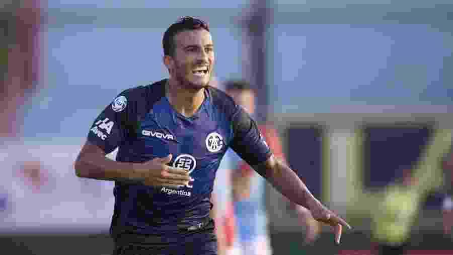 Guilherme Parede comemora gol pelo Talleres, da Argentina - Divulgação/Talleres-ARG