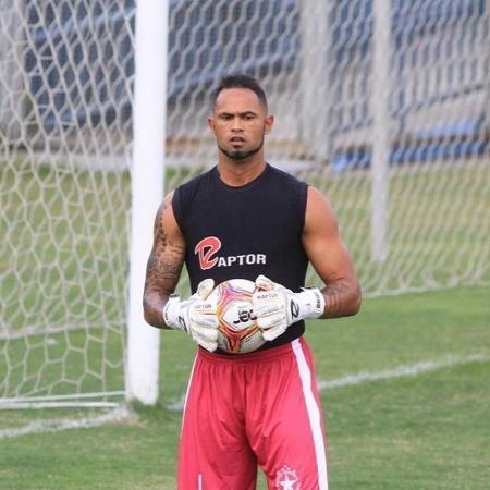 O goleiro Bruno durante sua breve passagem pelo Boa Esporte  - Reprodução