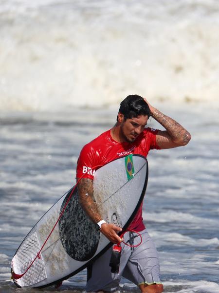 27.jul.2021 - Gabriel Medina após derrota na disputa da medalha de bronze - Lisi Niesner/Reuters