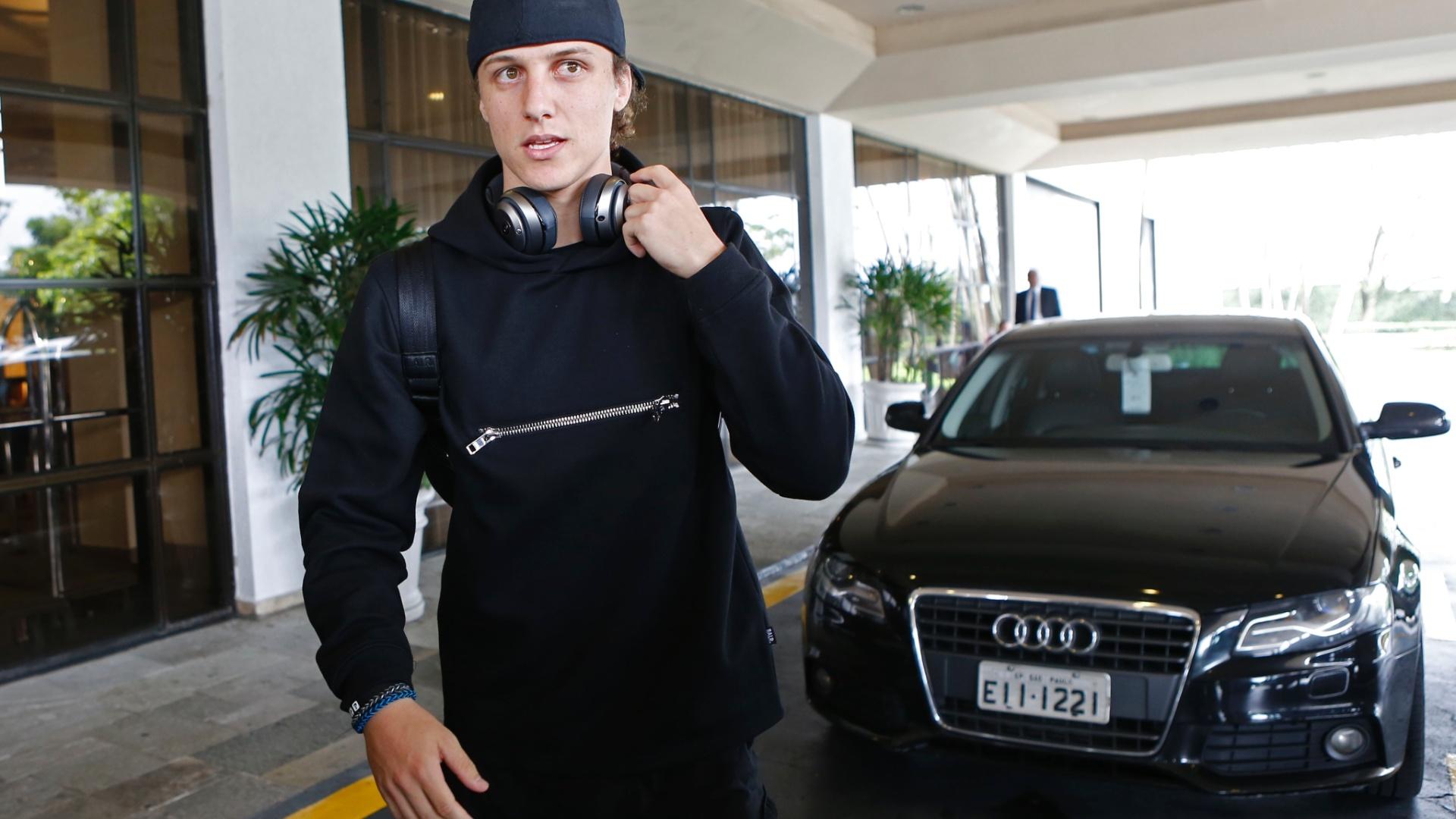 David Luiz se apresenta em hotel da seleção brasileira nesta segunda-feira, em São Paulo