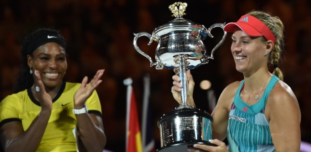Angelique Kerber conquistou seu primeiro título de Grand Slam - SAEED KHAN/AFP
