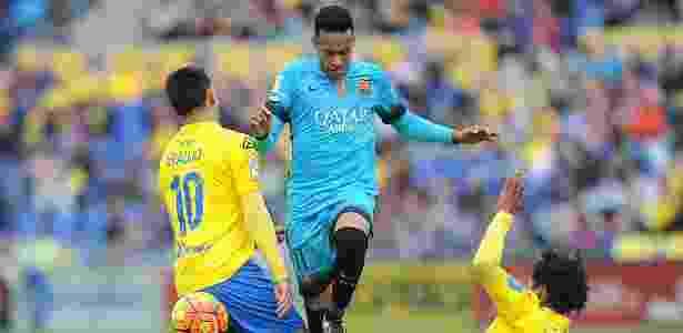 Maurício Lemos (3) enfrentou o Barcelona pelo Las Palmas - Denis Doyle/Getty Images