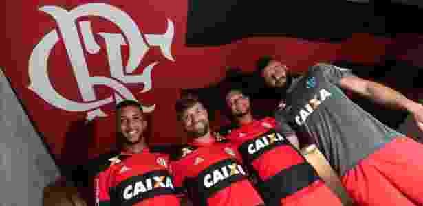 Quarteto do Flamengo lidera a seleção brasileira e repete marca após quase 28 anos - Gilvan de Souza/Flamengo