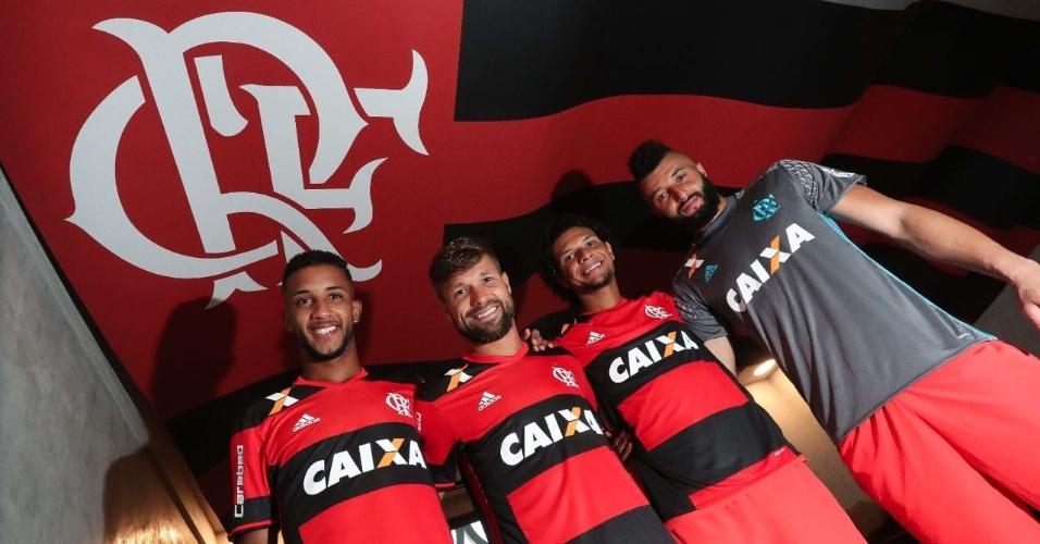 Jorge, Diego, Willian Arão e Alex Muralha: o quarteto do Flamengo na seleção brasileira