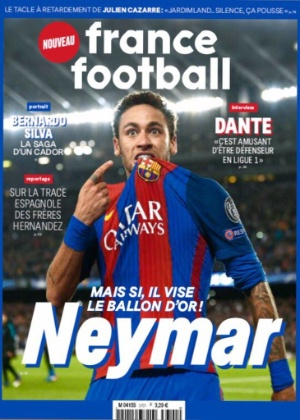 Neymar será capa da France Football