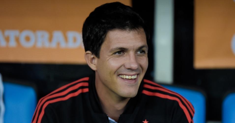 Maurício Barbieri, técnico do Flamengo, antes do jogo contra o Santa Fé, pela Libertadores