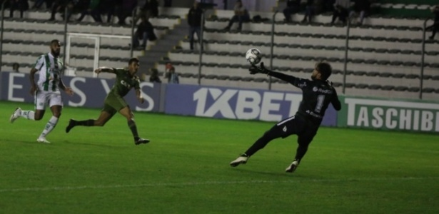 Guilherme Parede fez o gol do Coxa: time não sustentou a vitória contra o Ju