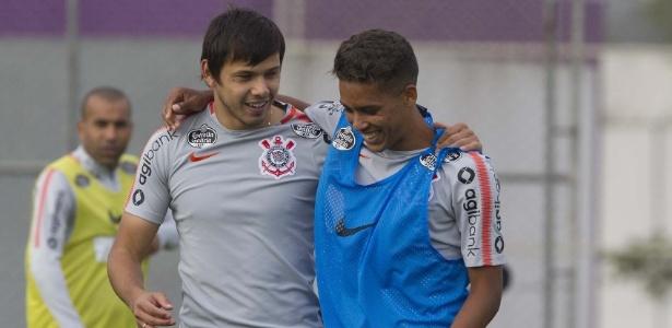 Romero e Pedrinho serão titulares do Corinthians neste domingo, às 11h, contra o Vasco - Daniel Augusto Jr/Agência Corinthians