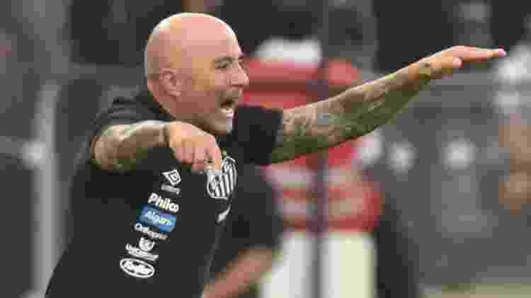Sampaoli durante o clássico entre Santos e Corinthians - Ivan Storti/Santos FC - Ivan Storti/Santos FC