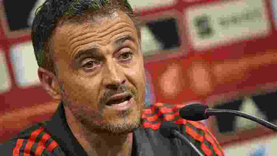 Luis Enrique, treinador da seleção espanhola  - JOSE JORDAN / AFP