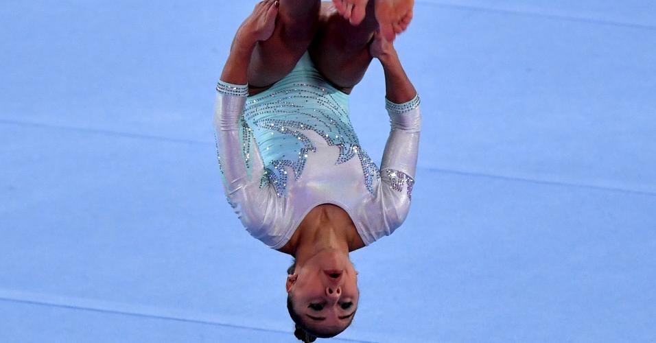Flávia Saraiva compete na final do solo nos Jogos Pan-Americanos de Lima