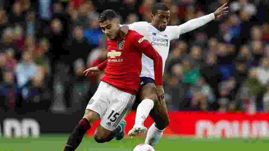 Liverpool e United ficaram no empate pelo Campeonato Inglês  - REUTERS/Russell Cheyne