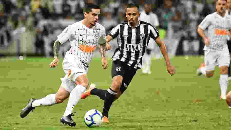 Ceará perdeu para o Corinthians e agora pode chegar à última rodada atrás do Cruzeiro - Kely Pereira/AGIF