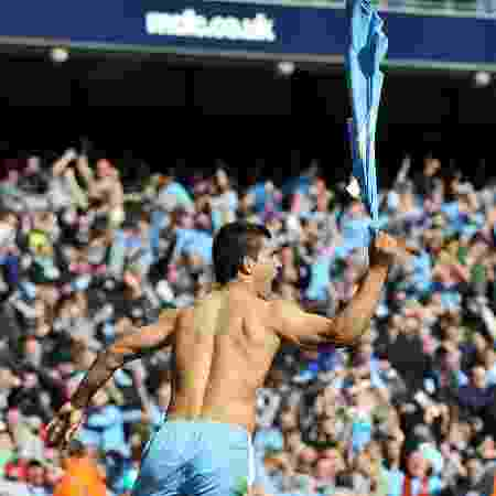 Agüero comemorando o gol do título da Premier League em 2012 - Ed Garvey/Manchester City FC via Getty Images