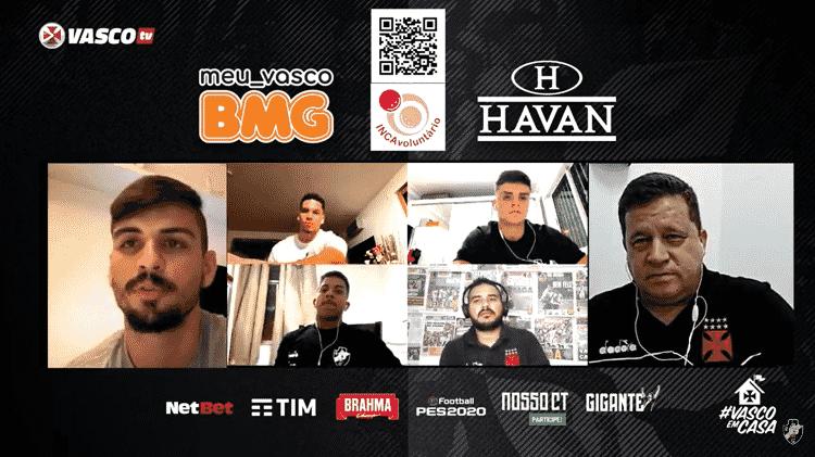 Vasco tem promovido lives com jogadores, jornalistas, músicos e artistas durante a pandemia - Reprodução / Vasco TV - Reprodução / Vasco TV