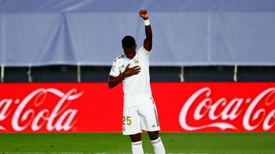 Vinicius Junior marca para o Real Madrid em partida contra o Mallorca - REUTERS/Susana Vera