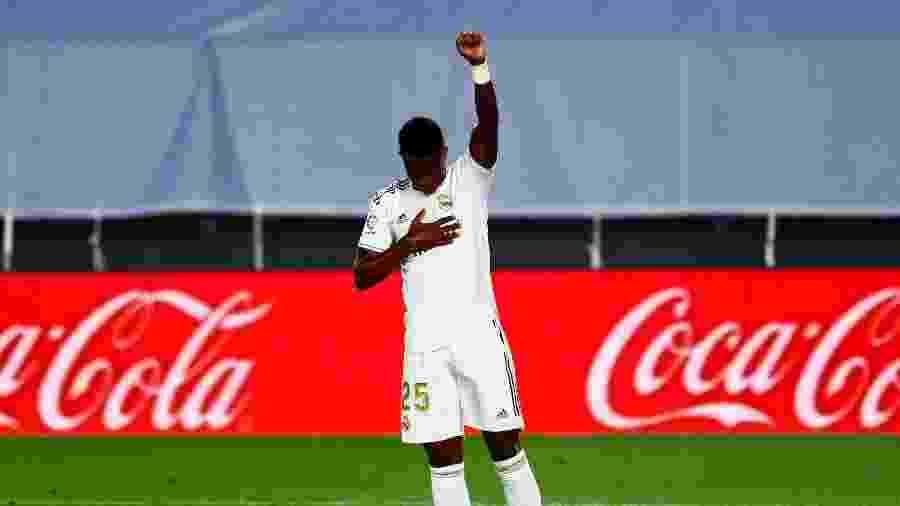 Vinicius Junior marcou o primeiro gol do Real Madrid na vitória sobre o Mallorca - REUTERS/Susana Vera