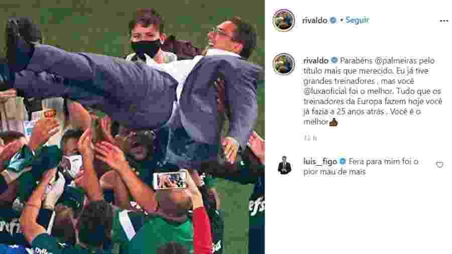 Rivaldo elogia Luxa e é rebatido por Figo - Reprodução/Instagram