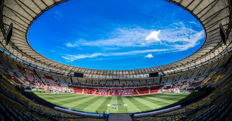 Estádio do Maracanã, antes da partida entre Flamengo e Corinthians