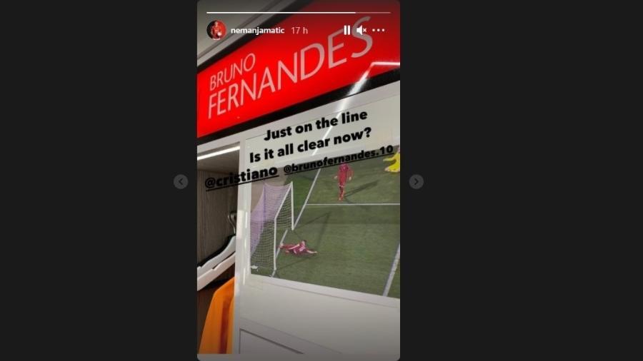 Meia sérvio provoca Cristiano Ronaldo após gol não validado por Portugal - Reprodução/Instagram