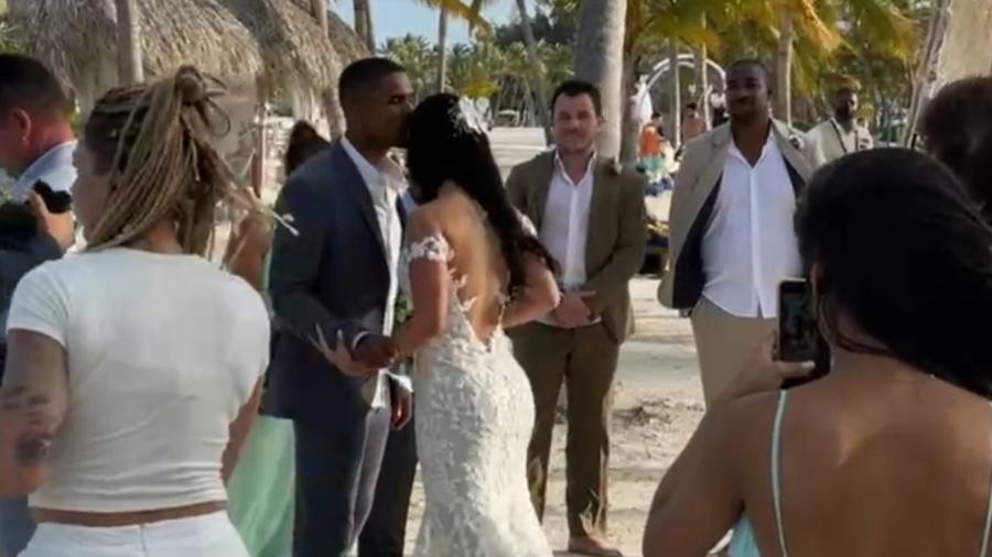 Douglas Costa se casa com Nathália Félix em Punta Cana - Reprodução/Instagram
