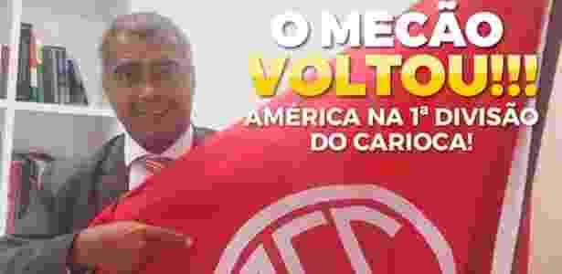 23f96c5cf9 Romário e Alex Escobar celebram retorno do América à 1ª divisão no ...