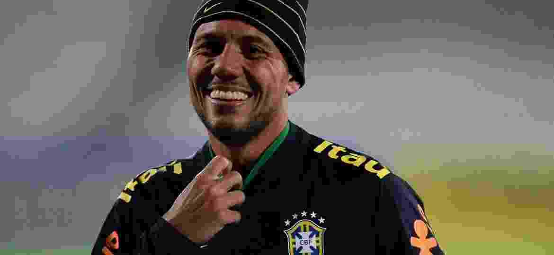 Diego Alves durante treinamento da seleção na Austrália, a última vez em que esteve com o grupo do técnico Tite - Pedro Martins/MoWa Press