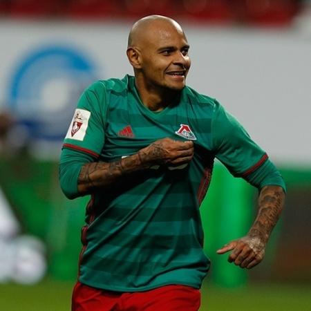 Ari comemora gol pelo Lokomotiv Moscou pelo Campeonato Russo - Divulgação