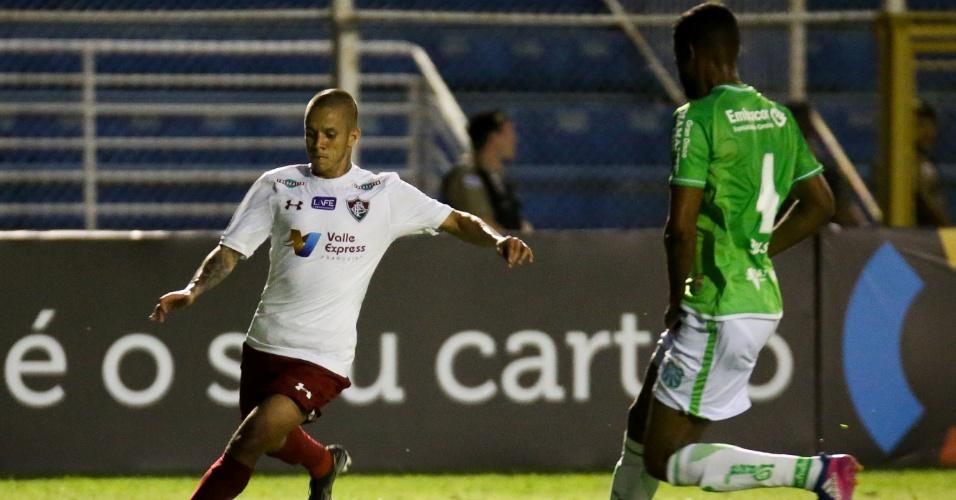Marcos Junior tenta fazer jogada em Caldense e Fluminense pela Copa do Brasil